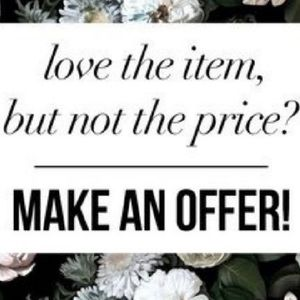 Love the item, but not the price? Make an offer!
